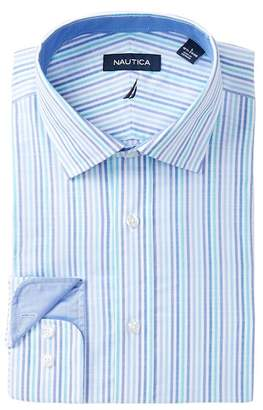 Nautica Striped Classic Fit Dress Shirt