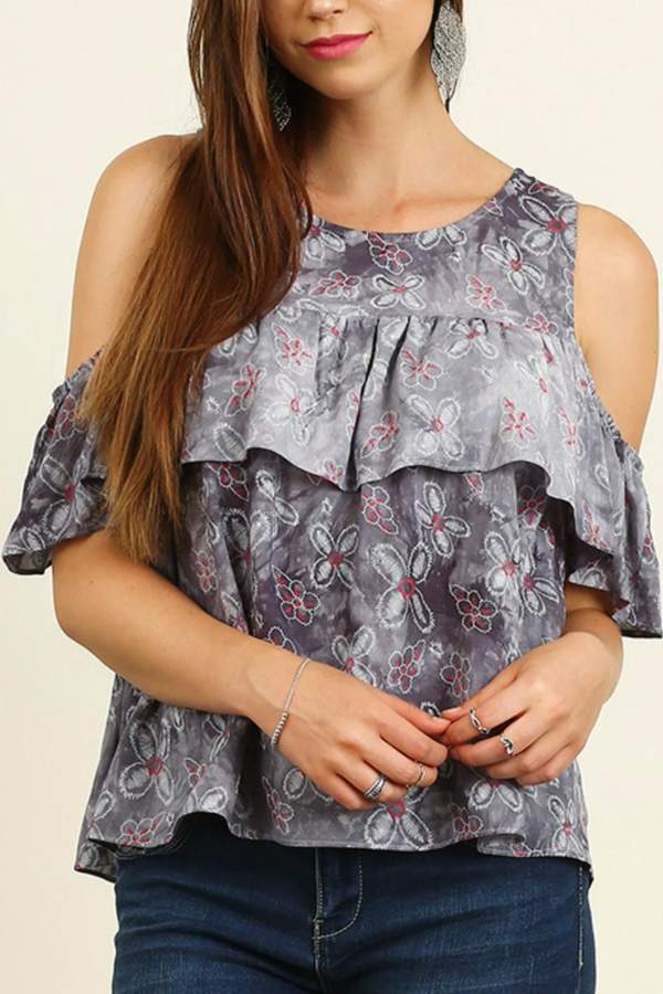 Umgee USA Open Shoulder Top