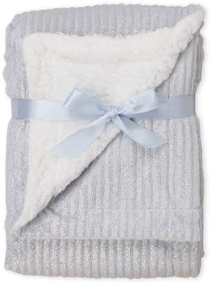 Baby Essentials Lullaby (Newborn/Infant) Blue Ribbed Sparkle Blanket