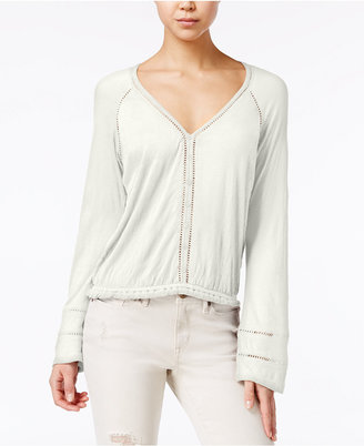 American Rag Bell-Sleeve Crochet-Trim Peasant Top, Created for Macy's $39.50 thestylecure.com