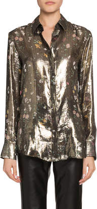 Altuzarra Metallic Collared Blouse