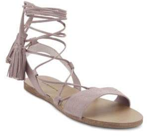 G.H. Bass Savannah Lace-Up Leather Sandals