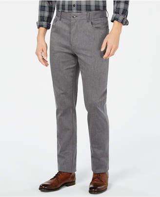 Ryan Seacrest Distinction Men's Heather Gray Cross Hatch Slim Fit Pants