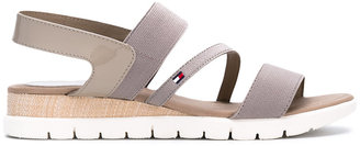 Tommy Hilfiger slip-on strappy flat sandals $89.03 thestylecure.com