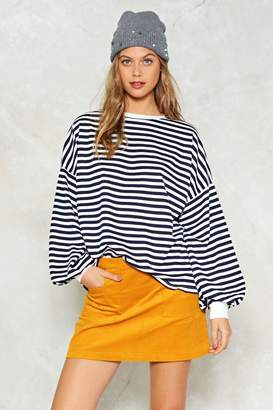 Nasty Gal Don't Sweat It Striped Sweater