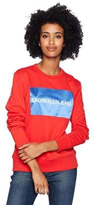 Calvin Klein Jeans Women's Square Block Logo Crewneck
