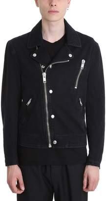 Givenchy Black Biker Denim Jacket