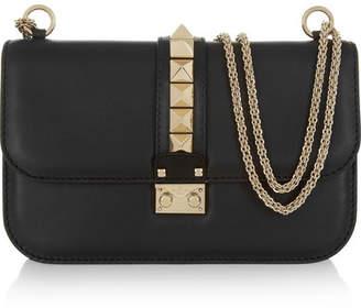 Valentino Garavani Lock Medium Leather Shoulder Bag - Black