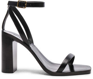 Saint Laurent Leather Loulou Ankle Strap Sandals