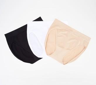 Breezies Seamless Hi-Cut Panties Set of 3