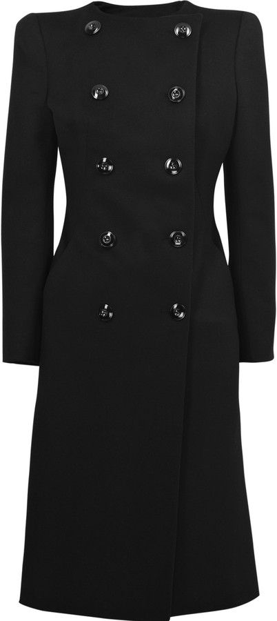 Alexander McQueen Double-breasted cashmere and wool-blend coat