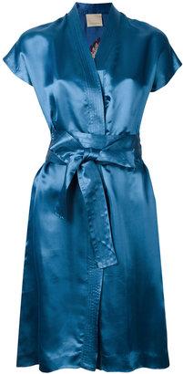 Laneus v-neck wrap dress