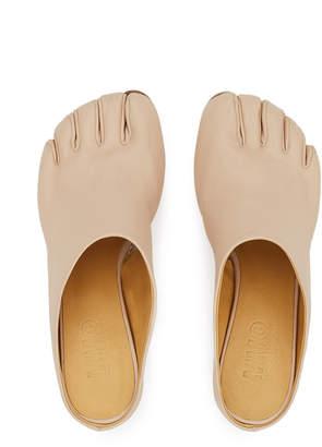 MM6 MAISON MARGIELA Nappa Leather Toe Kitten Heel