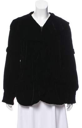 Philosophy di Alberta Ferretti Velvet Hooded Jacket