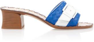 Bottega Veneta Block Heel Belted Leather Sandals