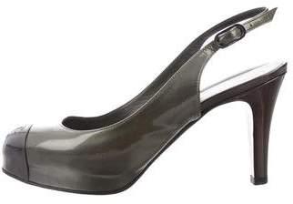 Chanel Cap-Toe Patent Leather Pumps
