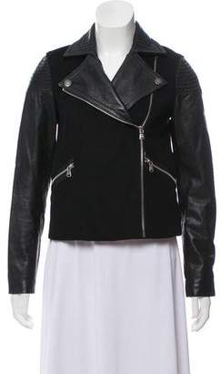 Marc by Marc Jacobs Leather-Accented Wool Jacket