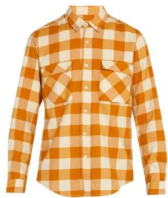 President's - Checked Cotton Shirt - Mens - Yellow