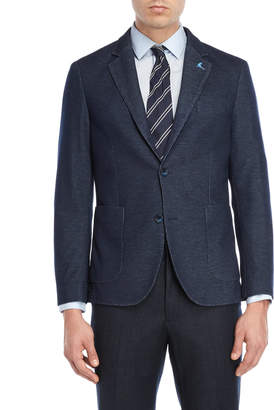 Tailorbyrd Navy Vertical Nail Head Sport Coat