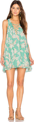 Show Me Your Mumu Rancho Mirage Lace Up Dress in Green $140 thestylecure.com
