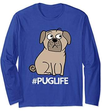 PugLife long sleeve cotton Tee by Purl Lamb