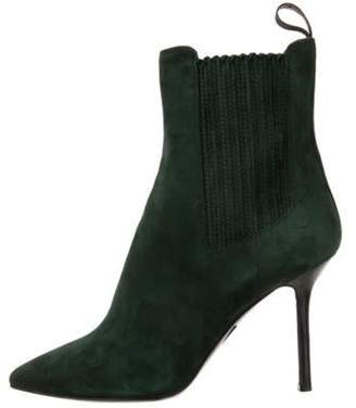 Santoni Suede Ankle Boots w/ Tags Green Suede Ankle Boots w/ Tags