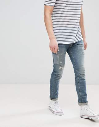 Selected Jeans In Slim Fit With Repair Work