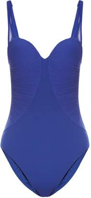 La Perla Cool Draping ruched-tulle padded swimsuit