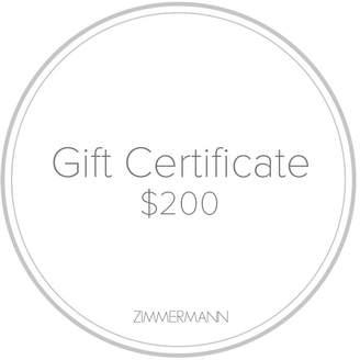 Zimmermann Gift Certificate $200