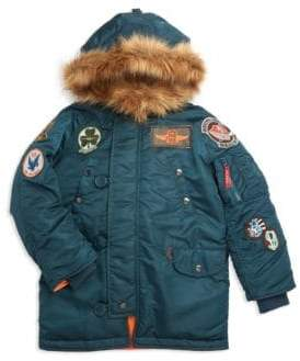 Alpha Industries Little Boy's Maverick Faux Fur Parka