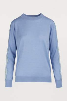 Nina Ricci Sweater with lace sleeves