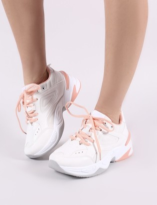 dbfec6edd34 Public Desire Feels Chunky Trainers in White and