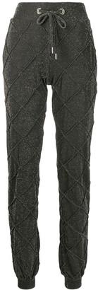 Philipp Plein high shine jogging trousers