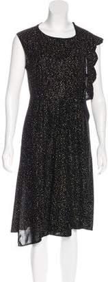 Saint Laurent Velvet Embellished Dress