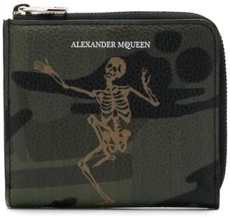 Alexander McQueen Dancing Skeleton print wallet