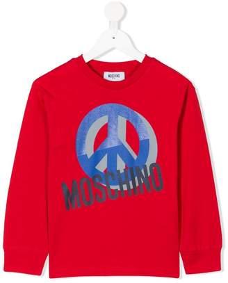Moschino Kids peace logo sweatshirt