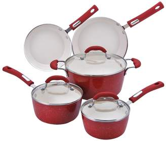 Hamilton Beach 8-pc. Aluminum Cookware Set - Red