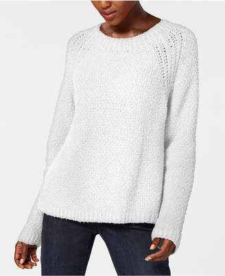 Eileen Fisher Organic Cotton Long-Sleeve Crew-Neck Sweater