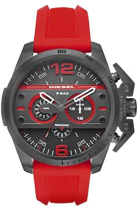 Diesel Men's Ironside Chronograph Silicone Strap Watch, 55mm