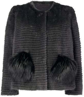 Liska mink and fox fur jacket