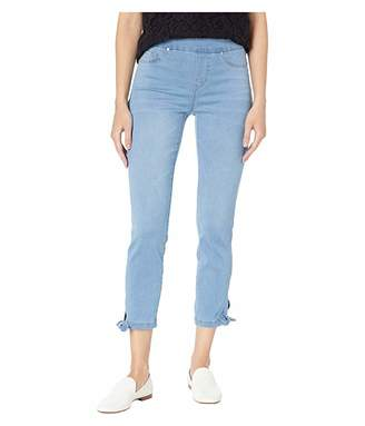 Tribal Soft Touch Denim Pull-On Crop w/ Knot Detail in Real Blue