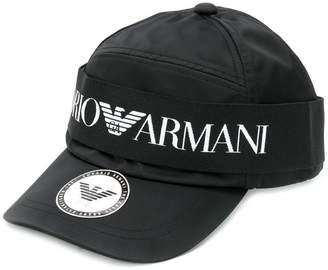 Emporio Armani logo band baseball cap