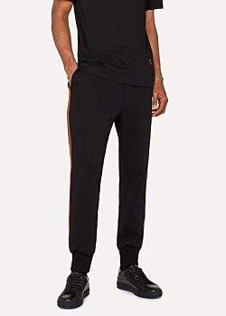 Paul Smith Men's Black 'Artist Stripe' Sweatpants