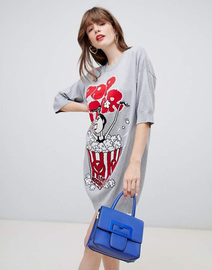 Popcorn jumper dress