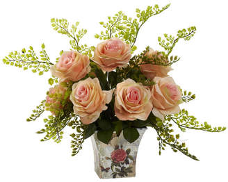 Lark Manor Rose and Maiden Hair in Floral Planter