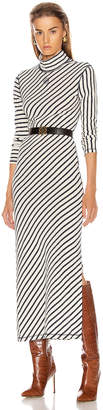 Loewe Stripe High Neck Jersey Dress in Navy & White | FWRD