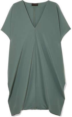 Hatch The Slouch Crepe De Chine Mini Dress - Jade