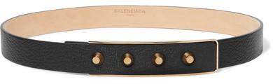Balenciaga Balenciaga - Studded Textured-leather Belt - Black