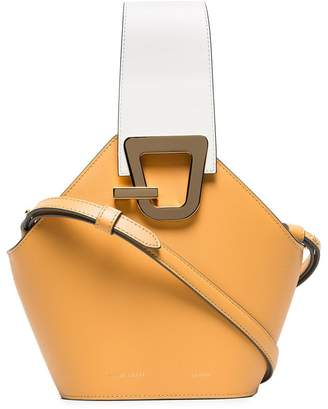 Lente Danse camel Johnny mini leather bucket bag