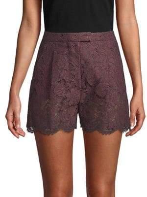Valentino Lace High-Waist Shorts